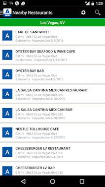 レストランの衛生度評価アプリ