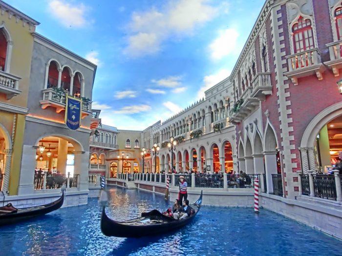 ベネチアンホテルのゴンドラライド