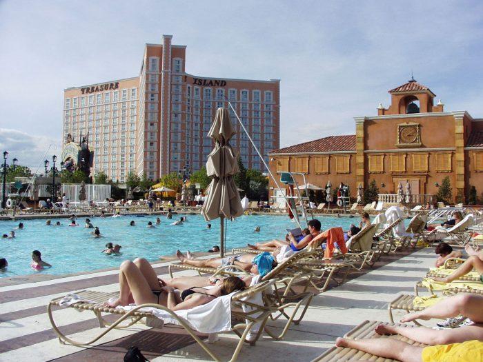ベネチアンホテルのプール