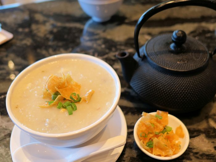 Congee with Pork and Preserved Egg (おかゆ)
