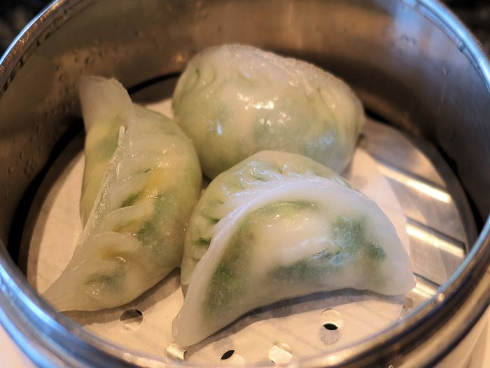 Steamed Dumplings with Shrimp and Chives