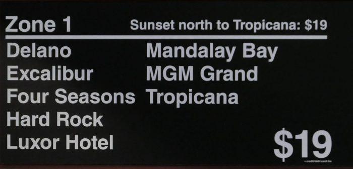 $19 の「ゾーン1」に区分されるホテル