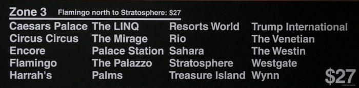 $27 の「ゾーン3」に区分されるホテル