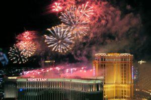 2020年の新年を祝う花火大会