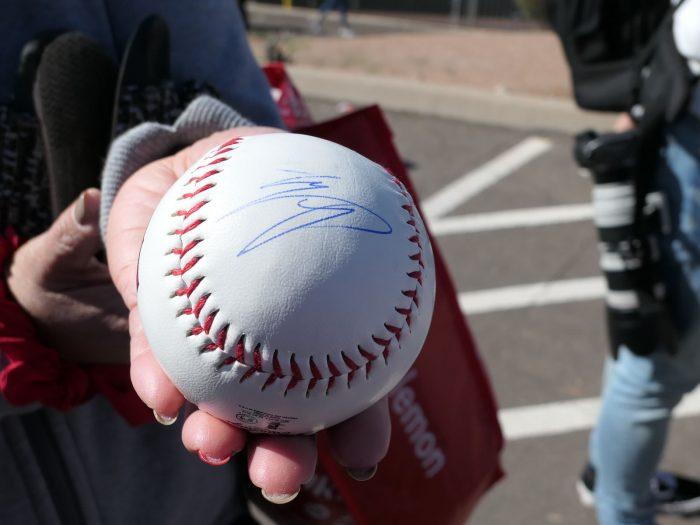 大谷にサインしてもらったボール。(ホームランボールではない)