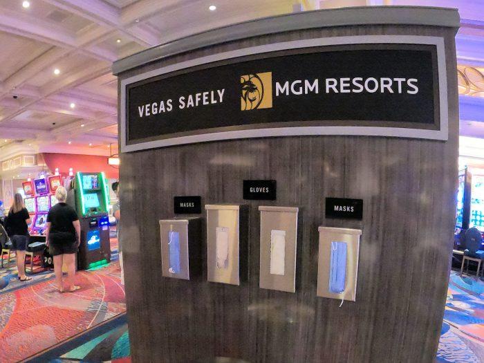 ベラージオホテルのカジノ内に設置されているスタンド