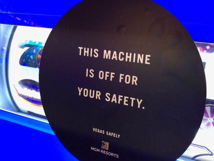ベラージオホテルのカジノ内のスロットマシン