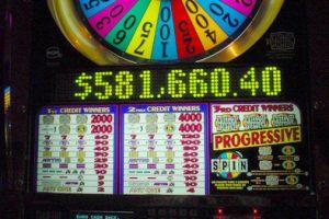 58万ドル(当時のレートで約7000万円)が出た瞬間のスロットマシン。