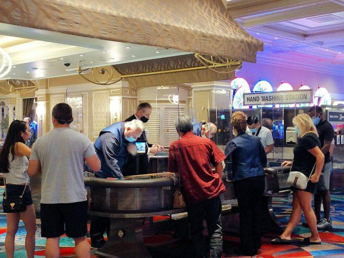 利用者が増え始めているベラージオホテルのカジノ。