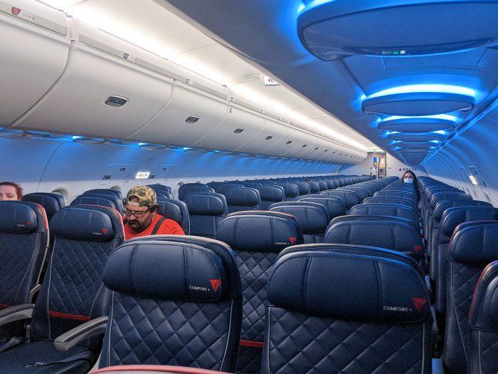 11人しか乗っていなかったデルタ航空2837便。