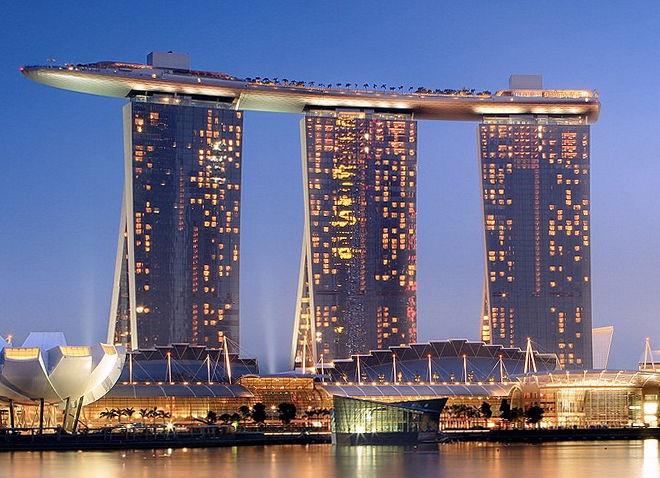 シンガポールにあるマリーナベイサンズ。