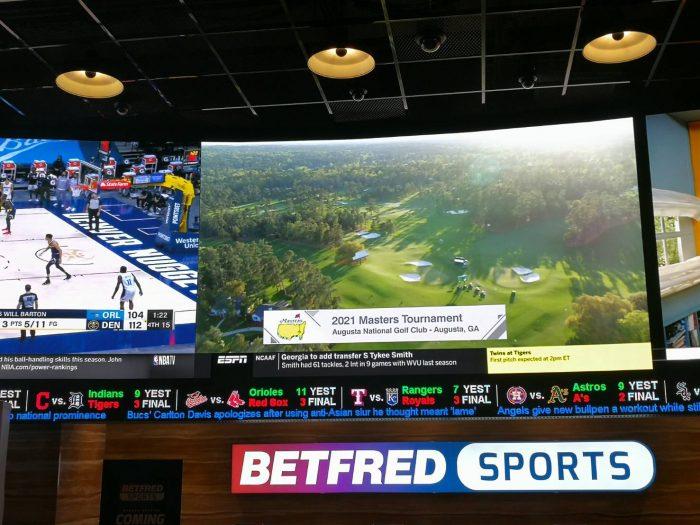 BETFRED 社が運営するヴァージンホテル内のスポーツブック