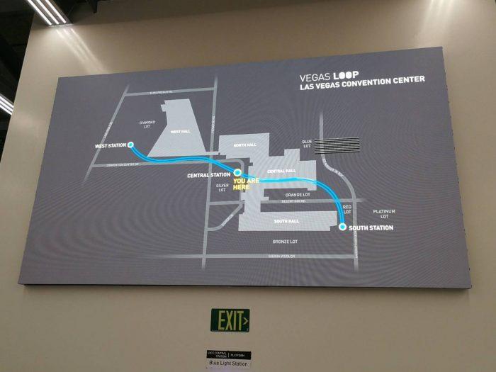 セントラルホール駅に掲示されている路線図。