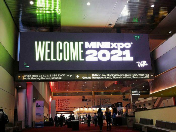 ラスベガスコンベンションセンターで開催中の MINExpo。